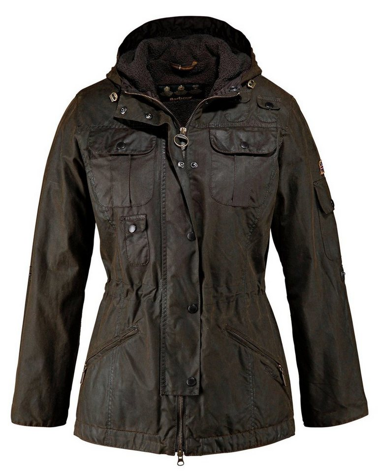 Barbour Wachsparka Winter Force in Oliv