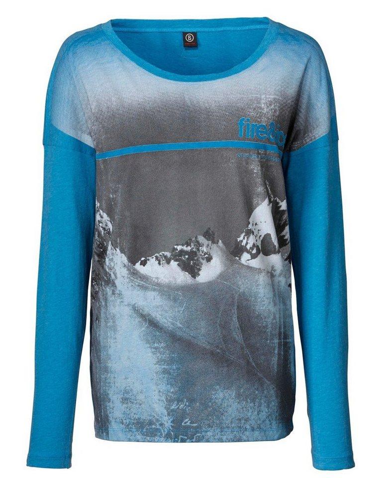 Bogner Fire + Ice Langarmshirt Agda in Blau/Grau