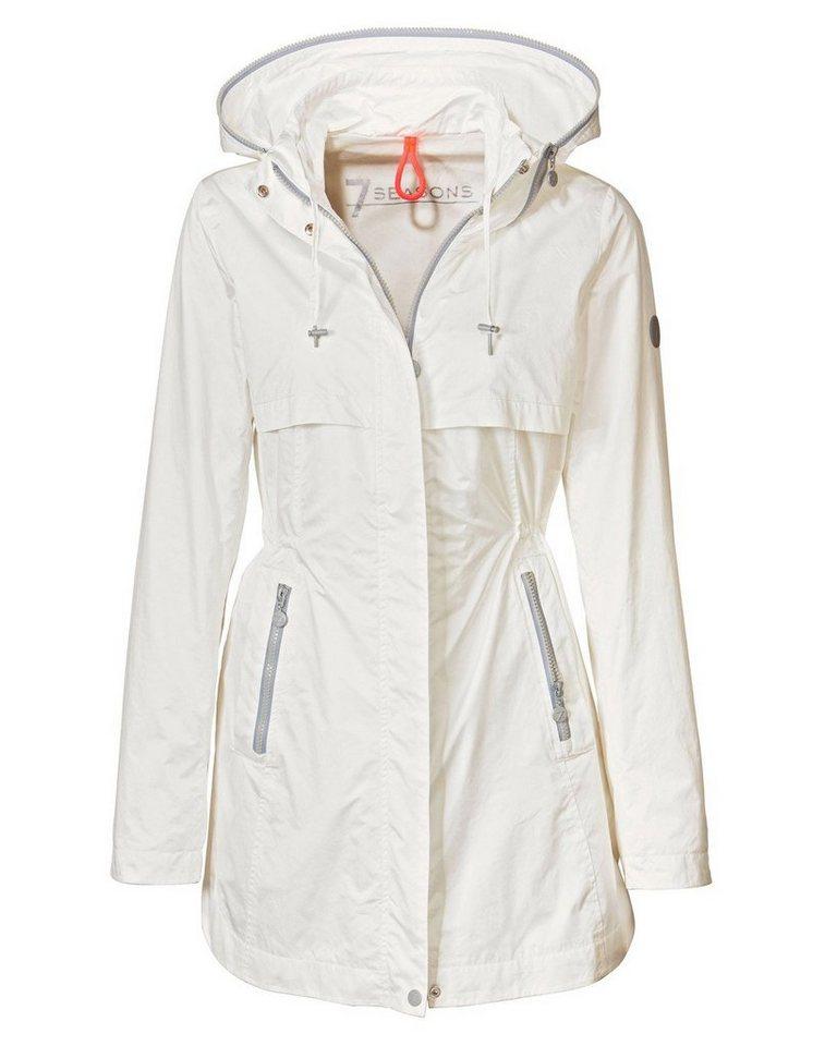 7SEASONS Lange Jacke in Weiß