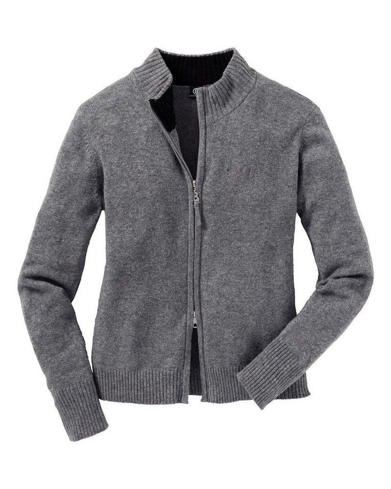 Bogner Jeans Strickjacke in Grau-Meliert