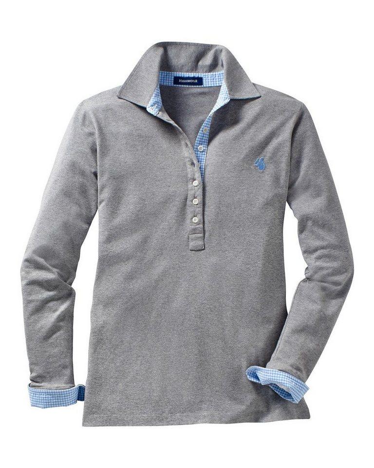 Highmoor Damen-Jerseyshirt in Grau-Meliert