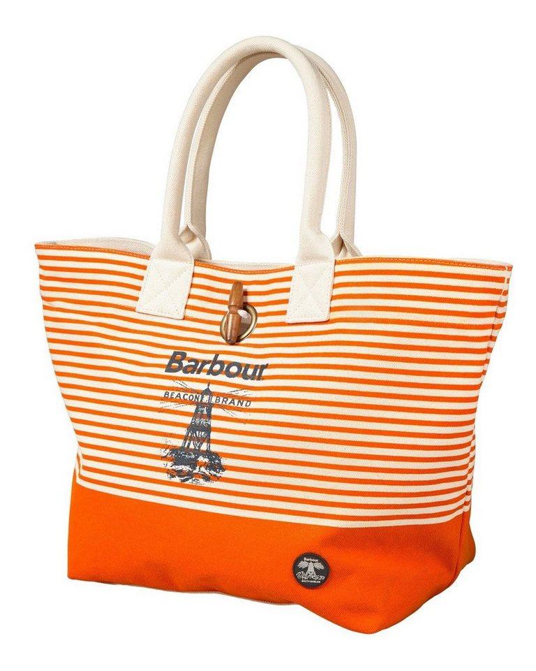 Barbour Tasche Beacon in Weiß/Orange