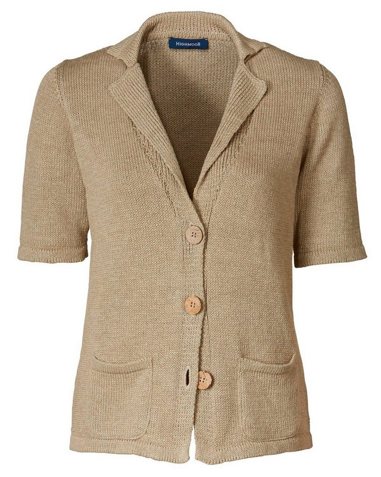 Highmoor 1/2-Arm Strickjacke in Beige