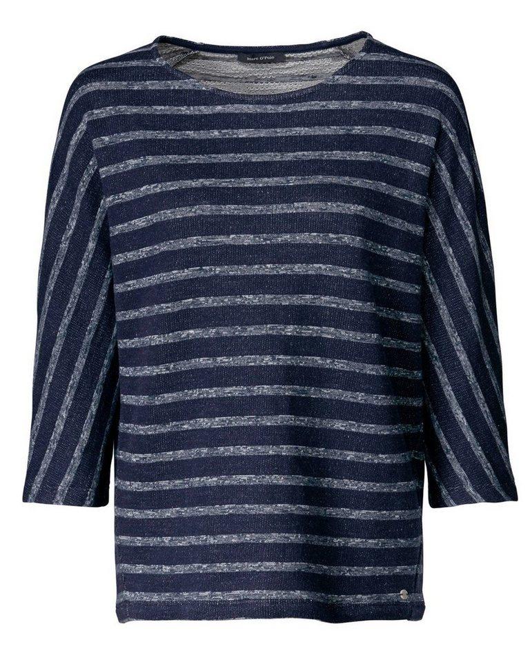 Marc O'Polo Sweatshirt in Ecru/Marine