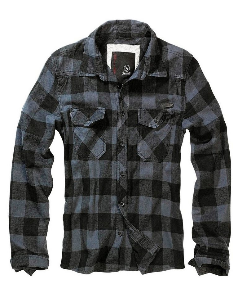 Brandit Hemd in grau/schwarz
