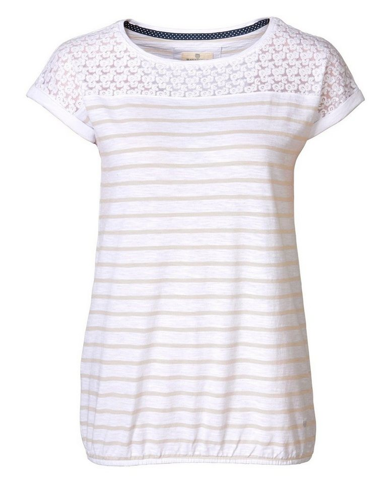 Basefield T-Shirt in Stein/Weiß