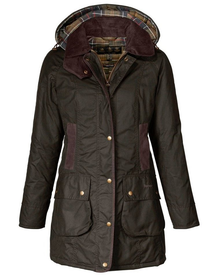 Barbour Wachsjacke Bower in Oliv
