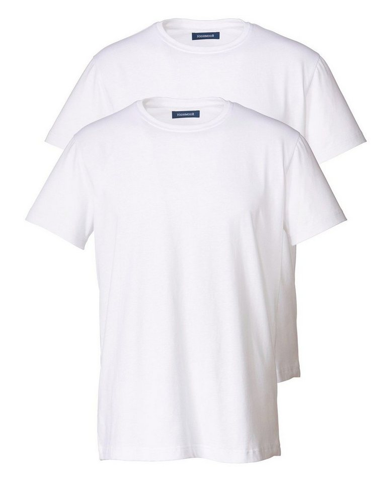 Highmoor Doppelpack Rundhals T-Shirt in Weiß