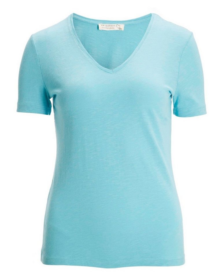 IN LINEA T-Shirt in Aqua