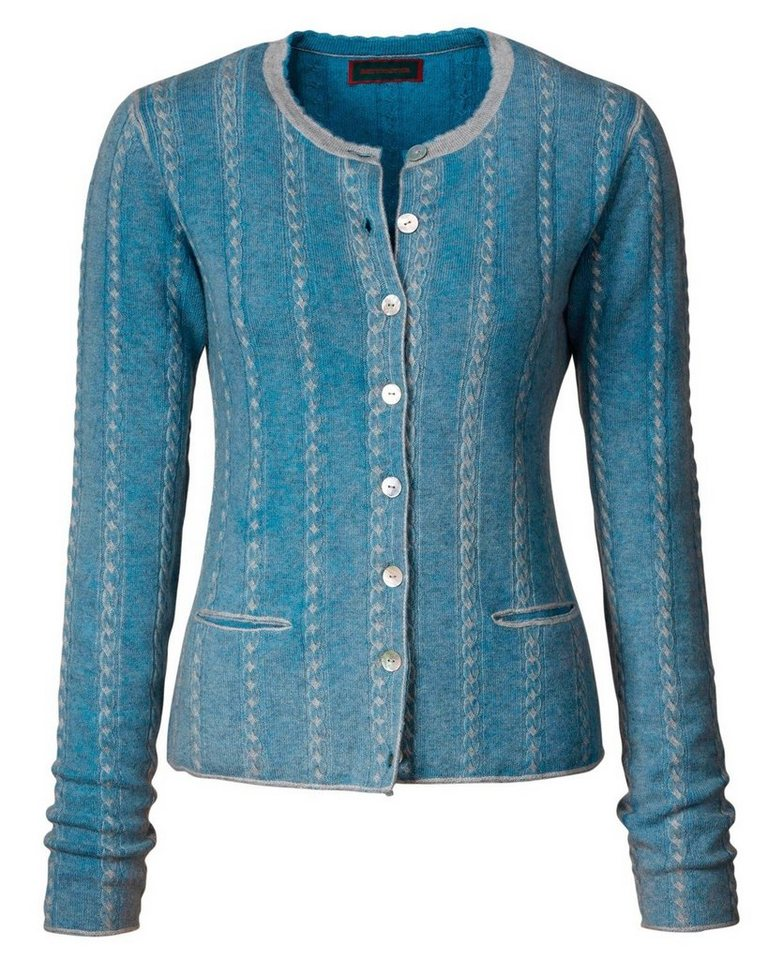 Reitmayer Zopfstrickjacke in Bleu