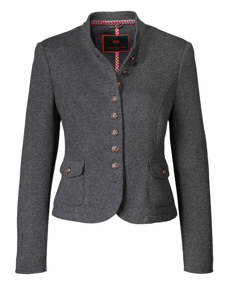 Reitmayer Jerseyjacke in Grau-Melange