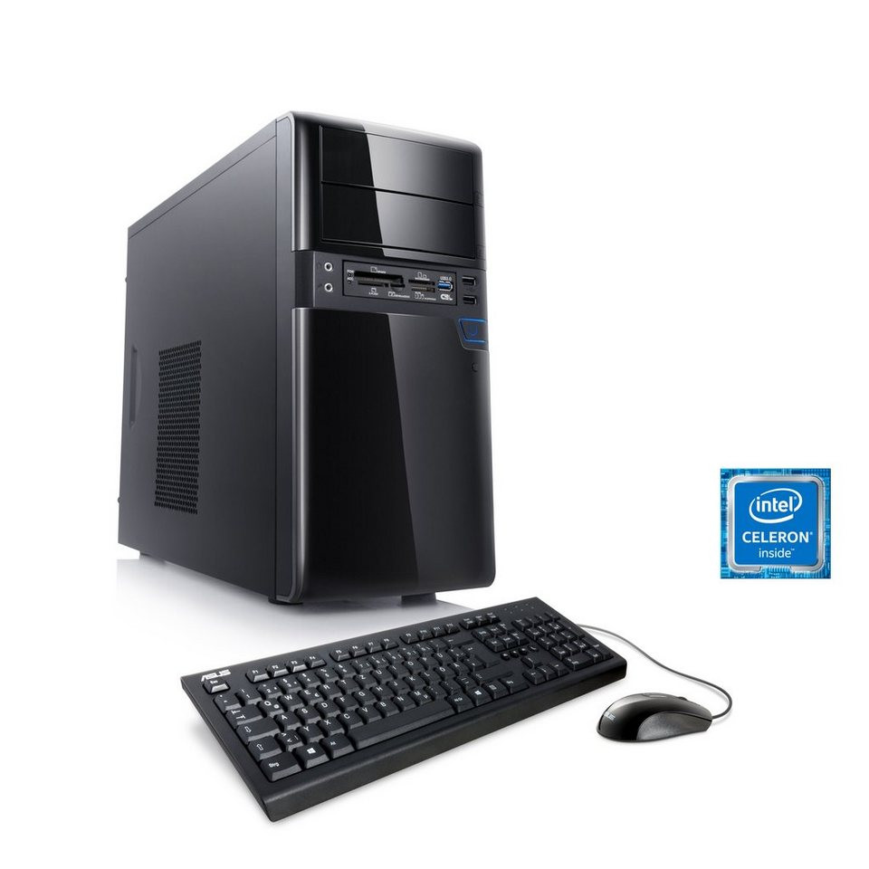 CSL Multimedia PC | DualCore G3920 | Intel HD 510 | 4 GB RAM »Speed T1417 Windows 10 Home« in schwarz