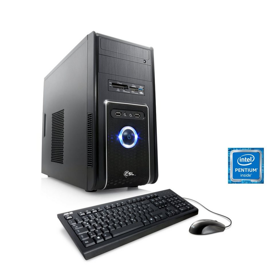 CSL Multimedia PC | Pentium G4400 | Intel HD 510 | 8 GB RAM »Speed T1822 Windows 10 Home« in schwarz