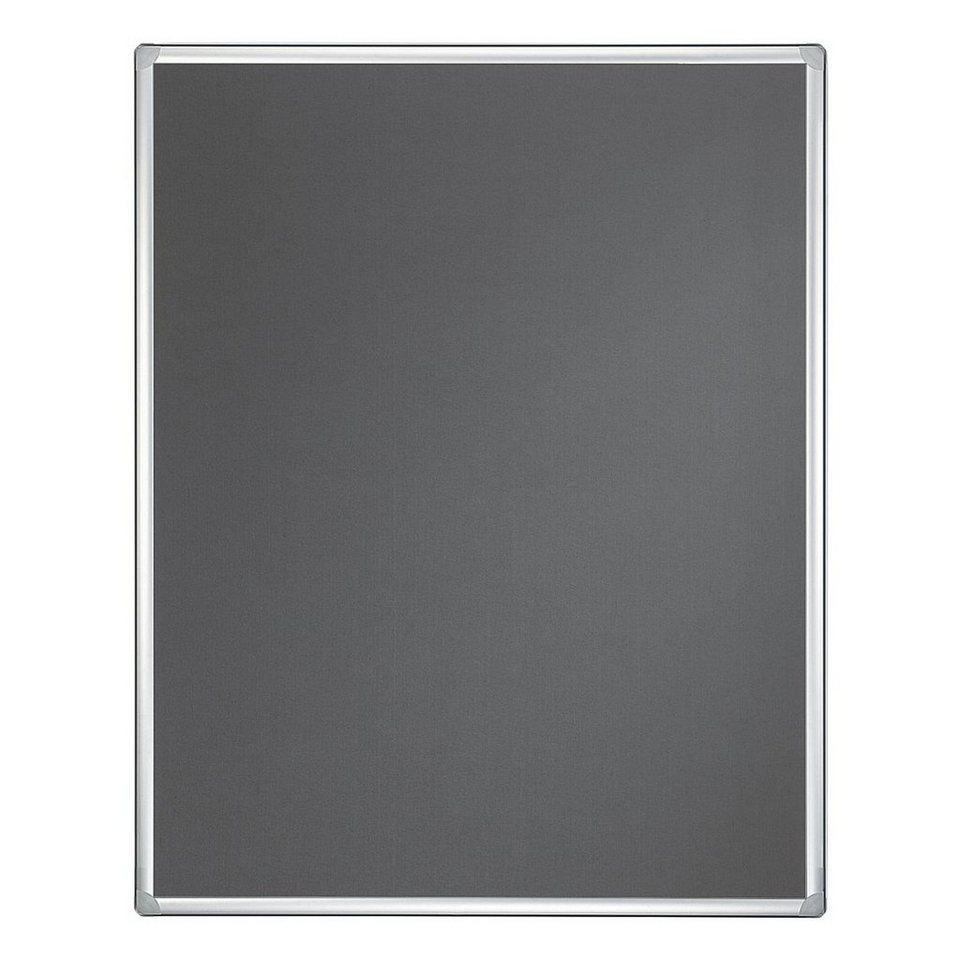 Franken Textil-Pinnwand »Pro« in silber grau