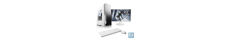 "CSL Gaming PC Set   Core i5-6500   RX 460   8 GB RAM   SSD   23"" TFT »Speed T5892 Windows 10 Home«"