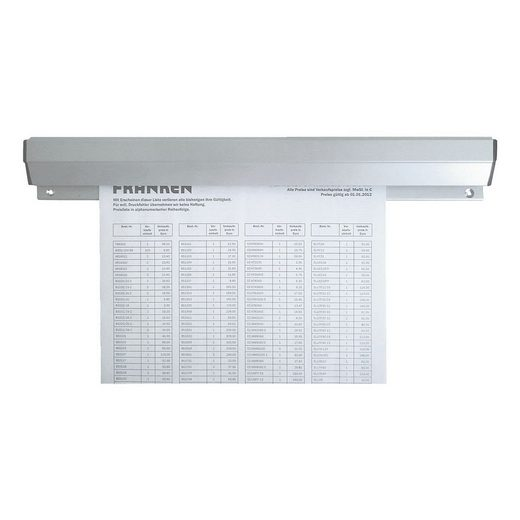 FRANKEN Aluminium-Papierklemmschiene 118 cm »PKSA118«
