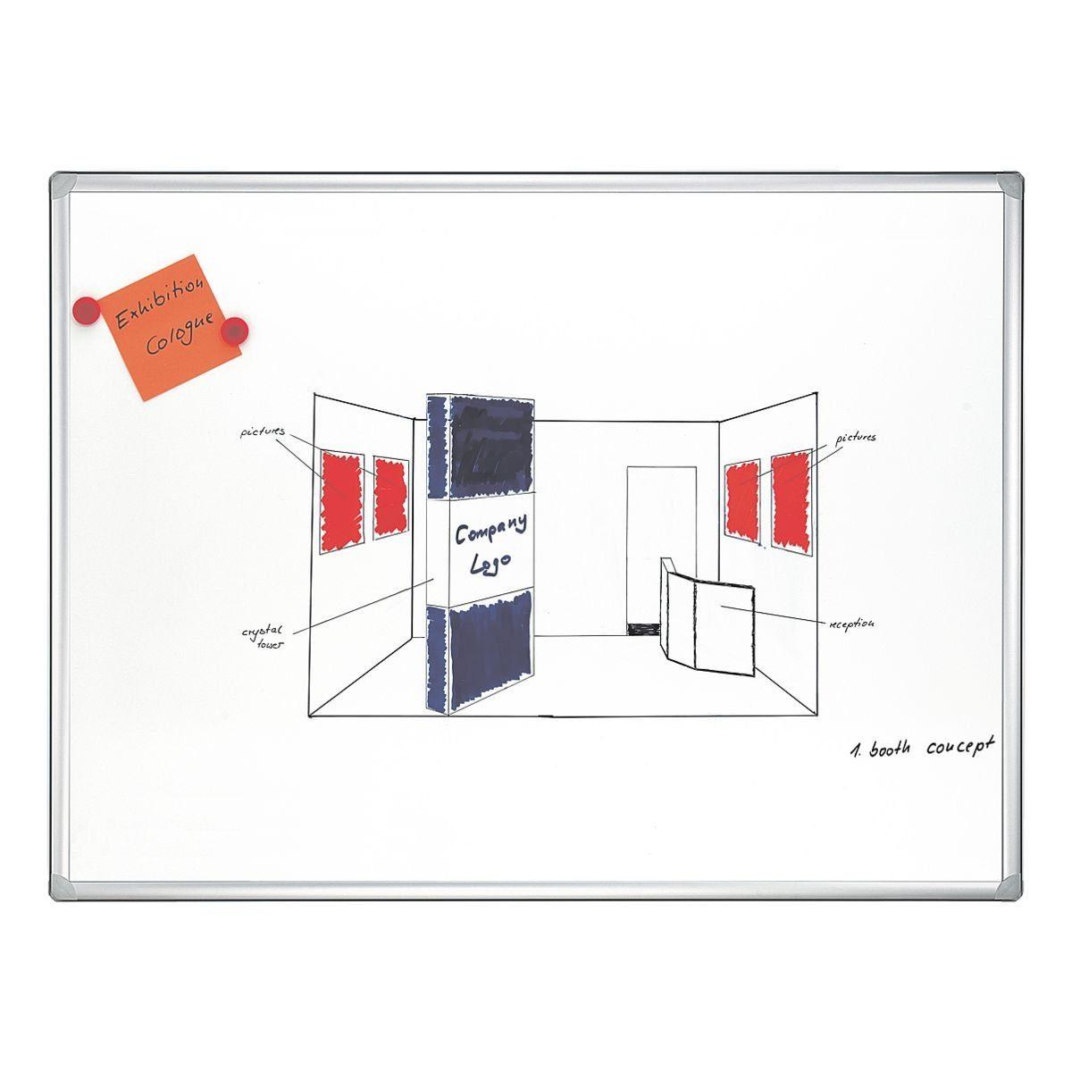 Franken Whiteboard emailliert, 200 x 100 cm »Pro«
