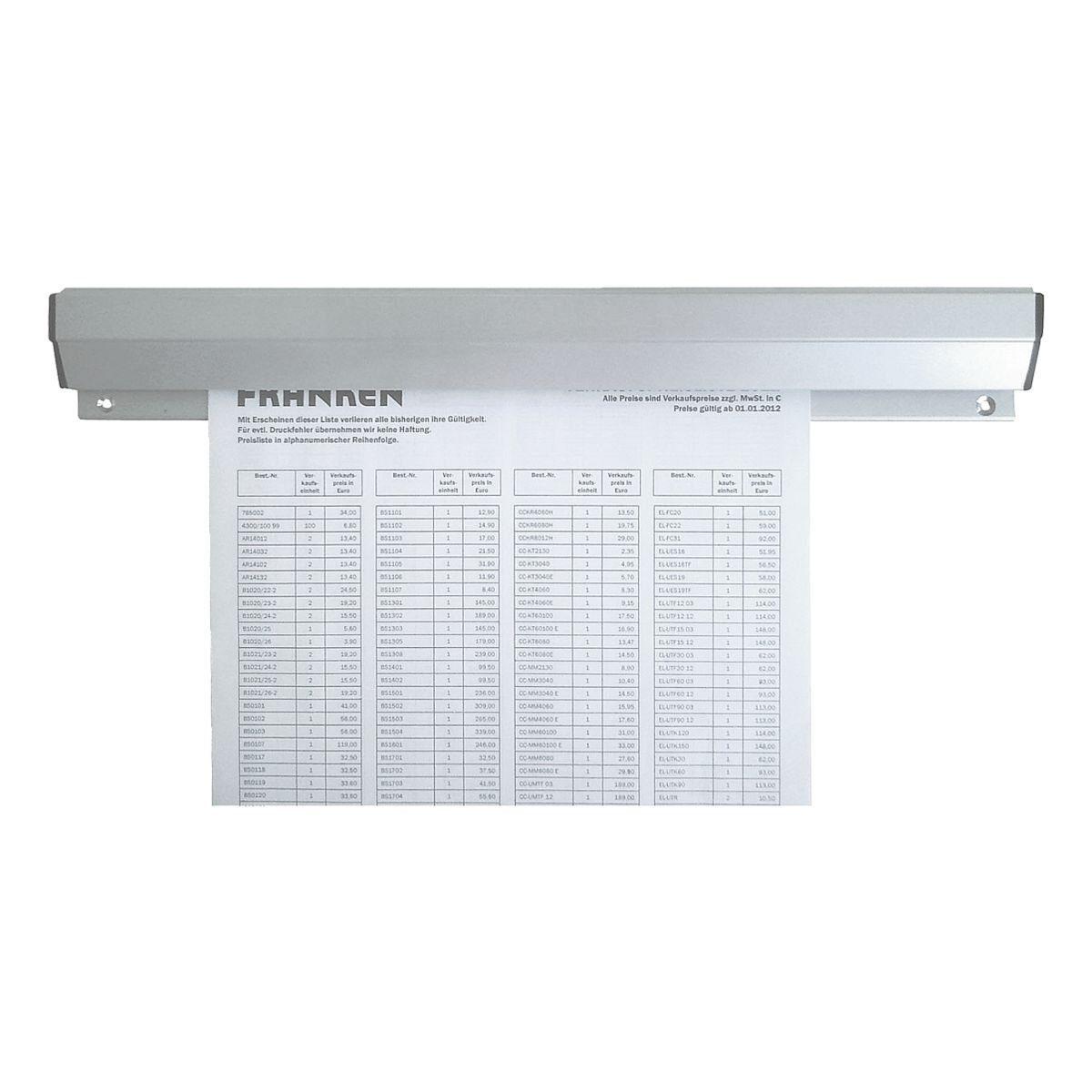 Franken Aluminium-Papierklemmschiene 31 cm »PKSA31«