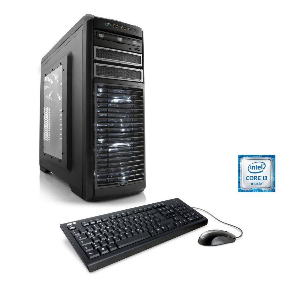 CSL Gaming PC   Core i3-6100   AMD Radeon RX 460   8 GB DDR4 RAM »Speed T5815 Windows 10 Home«