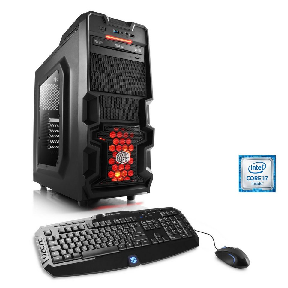 CSL Gaming PC | Core i7-6700 | GeForce GTX 1060 | 16 GB DDR4 RAM »Levitas T7020 Windows 10«