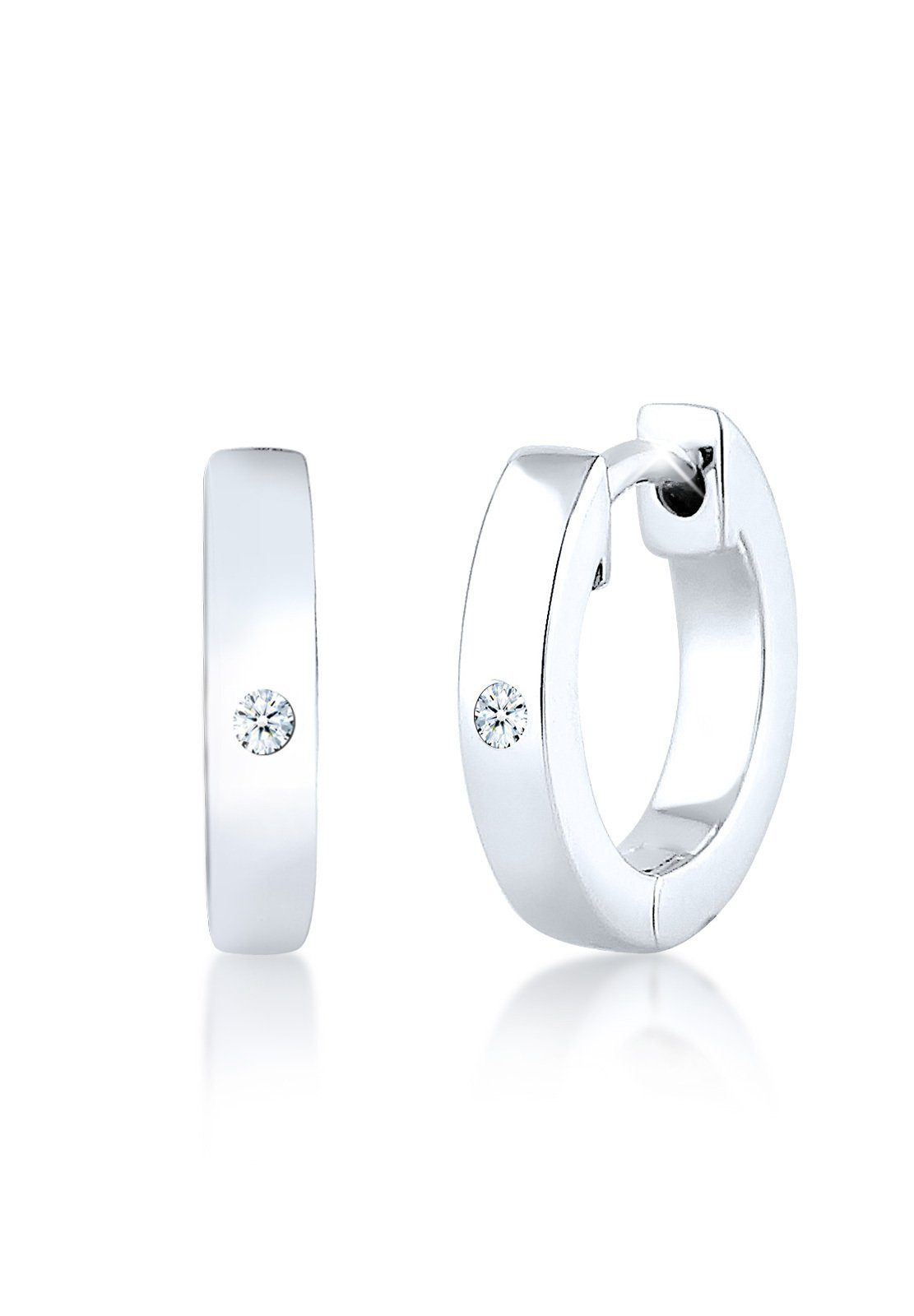 Diamore Ohrringe »Creole Diamant 925 Sterling Silber«