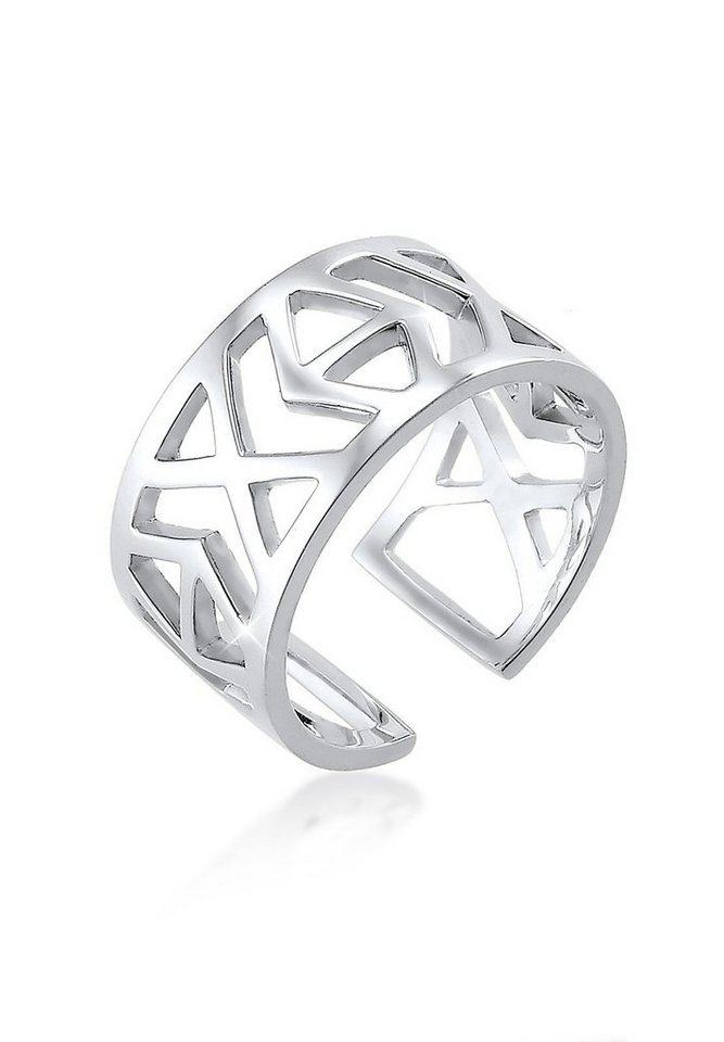 Elli Ring »Ikat-Muster 925 Sterling Silber« in Silber