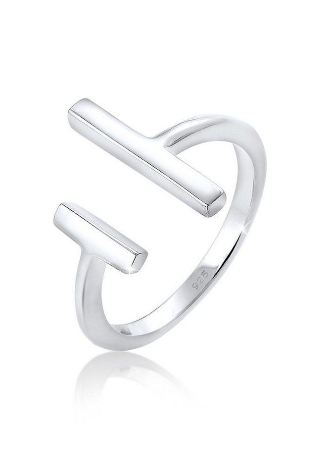 Elli Ring »Geo Minimal 925 Sterling Silber« in Silber