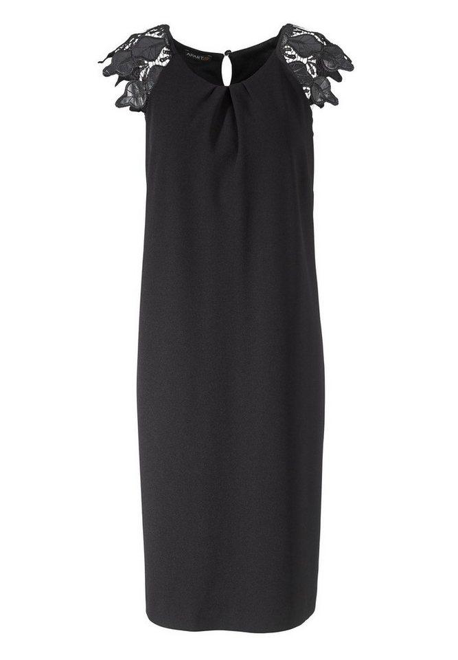Apart Jerseykleid Kurzarm in schwarz