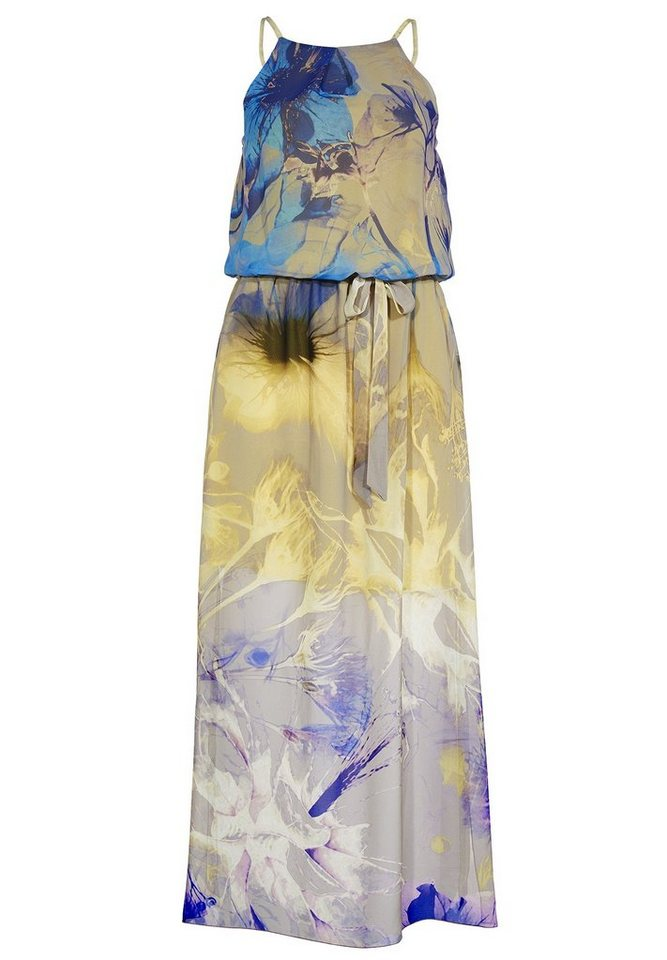 Apart Kleid Schulterfrei in vanille-multicolor