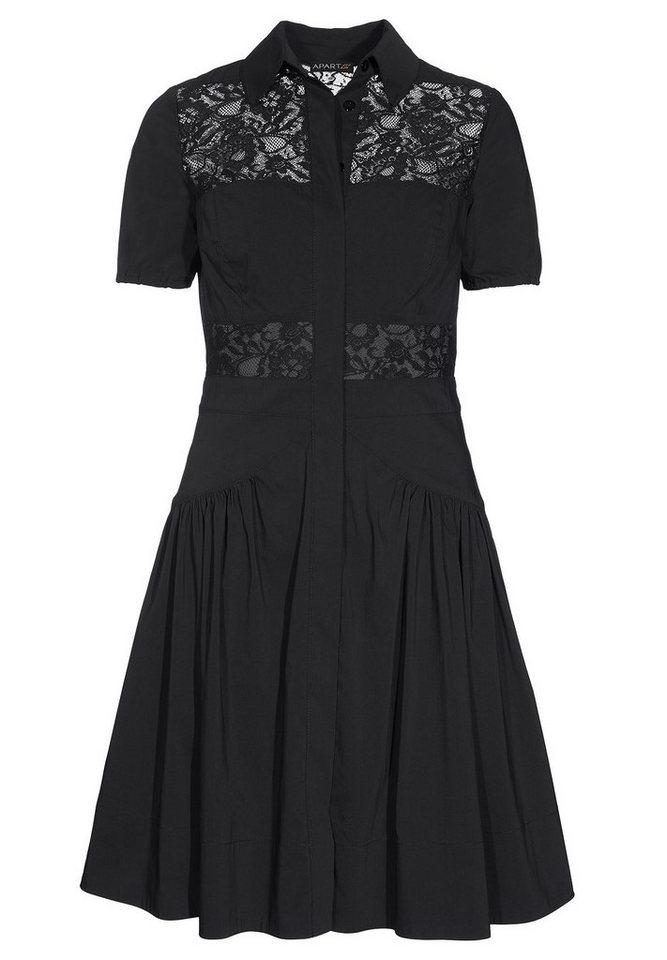 Apart Kleid Kurzarm in schwarz