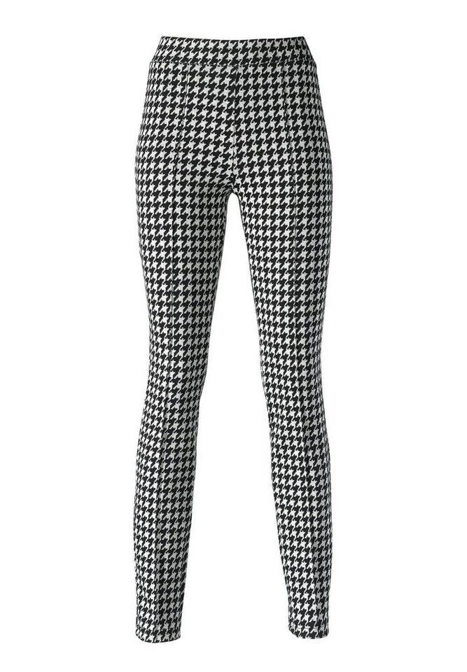 Apart Jerseyhose in schwarz-weiß