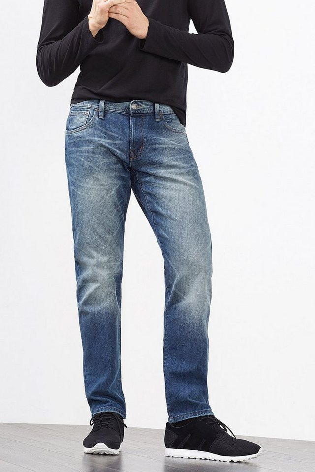 EDC 5-Pocket-Jeans aus Stretch-Denim in BLUE MEDIUM WASHED