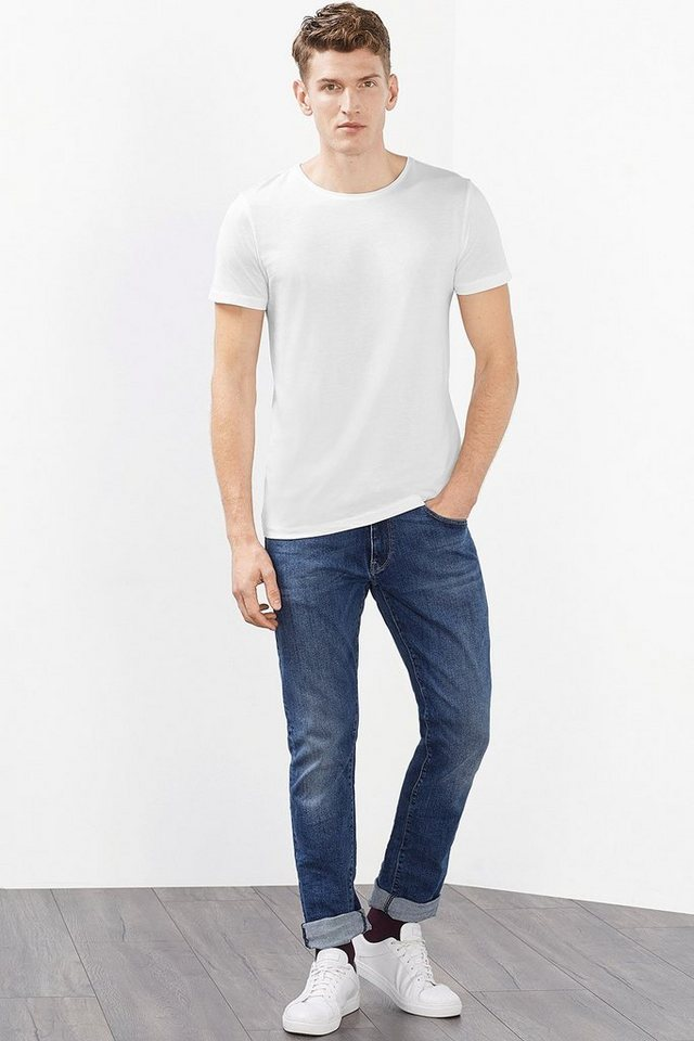 ESPRIT CASUAL Basic Jersey T-Shirt, 100% Baumwolle in WHITE