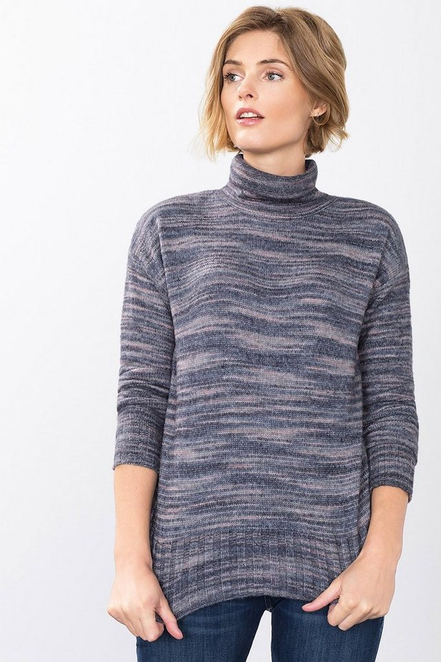 ESPRIT CASUAL Melange-Rolli aus dichtem Woll-Mix in NAVY