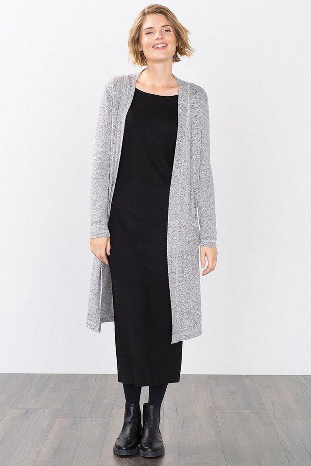 ESPRIT CASUAL Mantel aus weichem Jersey/Stretch in MEDIUM GREY