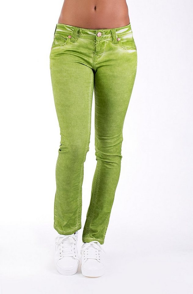 Blue Monkey 5-Pocket-Jeans »BM 10 Laura« in grün
