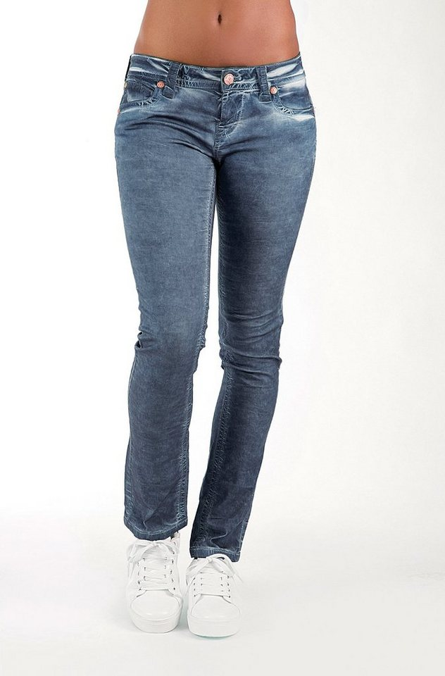Blue Monkey 5-Pocket-Jeans »BM 10 Laura« in blau