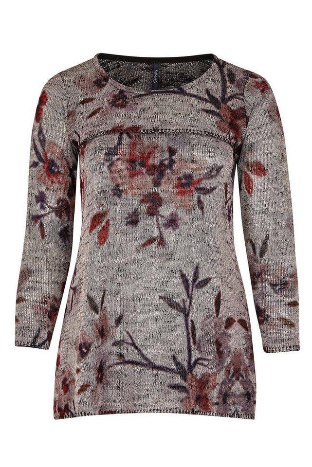Paprika Longpullover »Tunika-Pullover mit Blumenaufdruck« in rosa