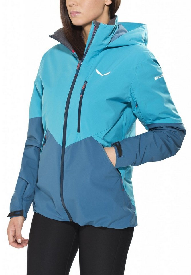 Salewa Outdoorjacke »Antelao Beltovo PTX/PRL Jacket Women« in petrol