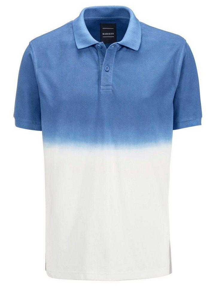 Babista Poloshirt in blau-weiß