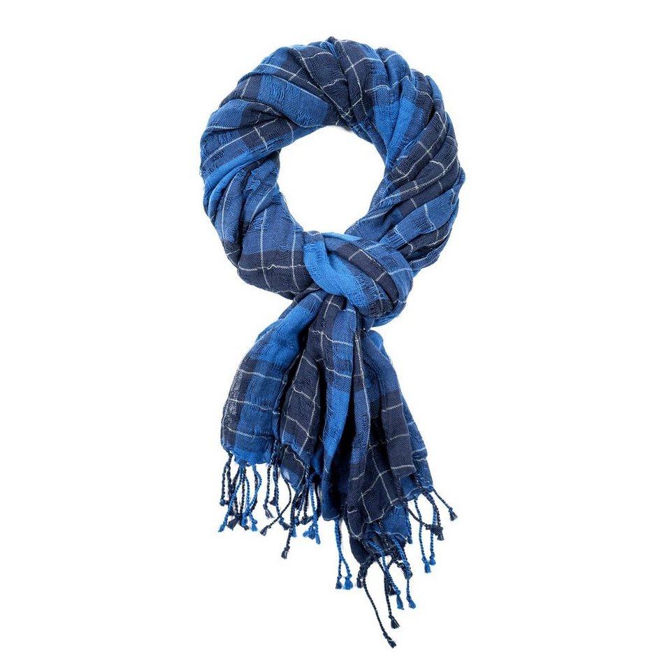 LERROS Herrenschal mit Karo-Muster in BLUE