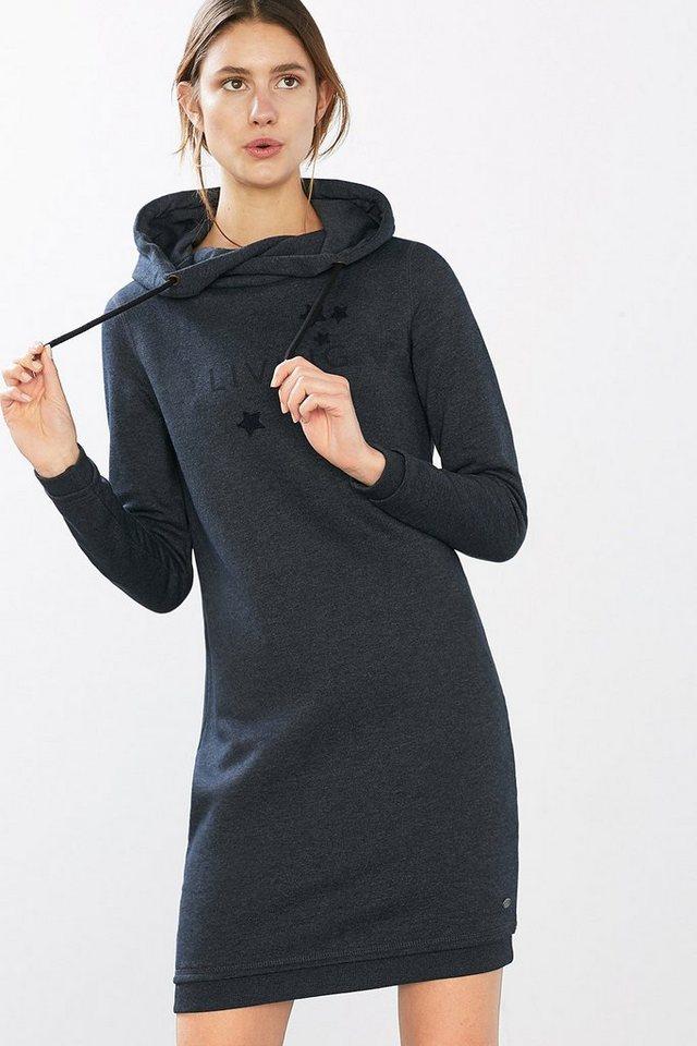 EDC Sweatshirt-Kleid mit Front-Artwork in NAVY