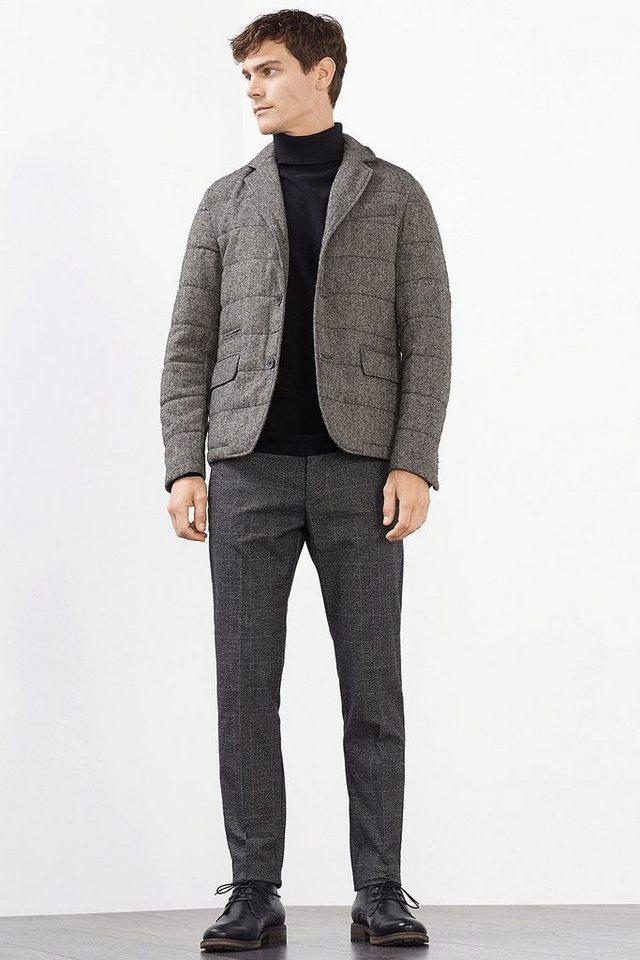 ESPRIT COLLECTION Wattierter Tweed-Blazer aus Woll-Blend in GREY