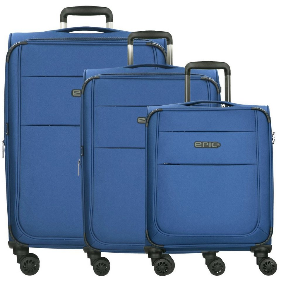 Epic DiscoveryAIR ULTRA 4-Rollen-Trolley Kofferset 3-tlg. 77 cm in pacificBLUE