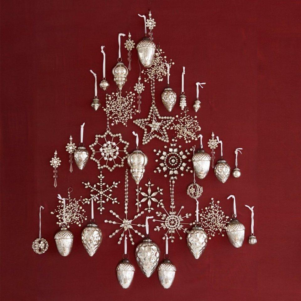 Loberon Weihnachtsschmuck-Set »Bjouterie« in antiksilber