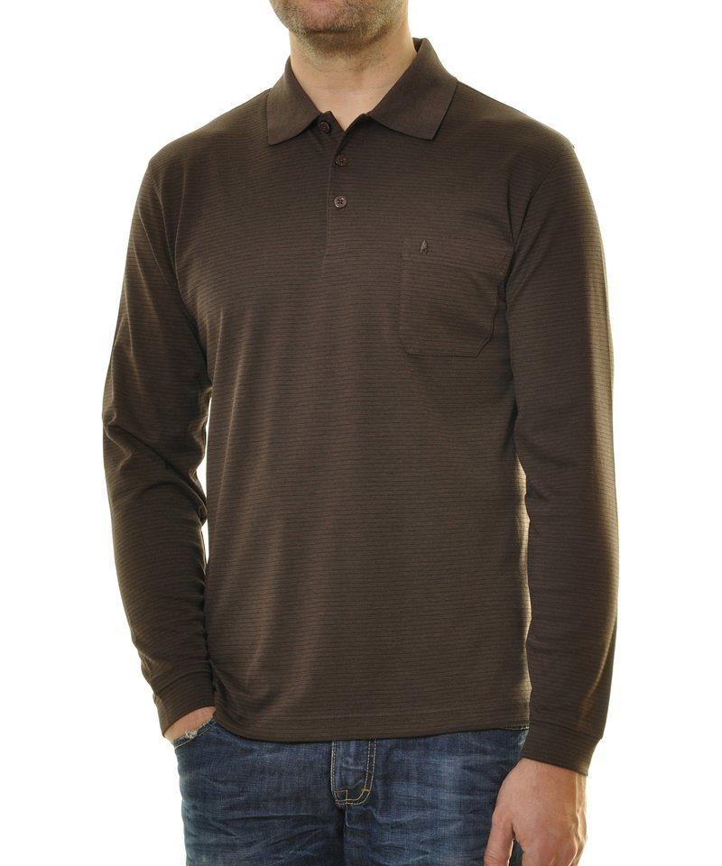 Ragman Poloshirt in braun