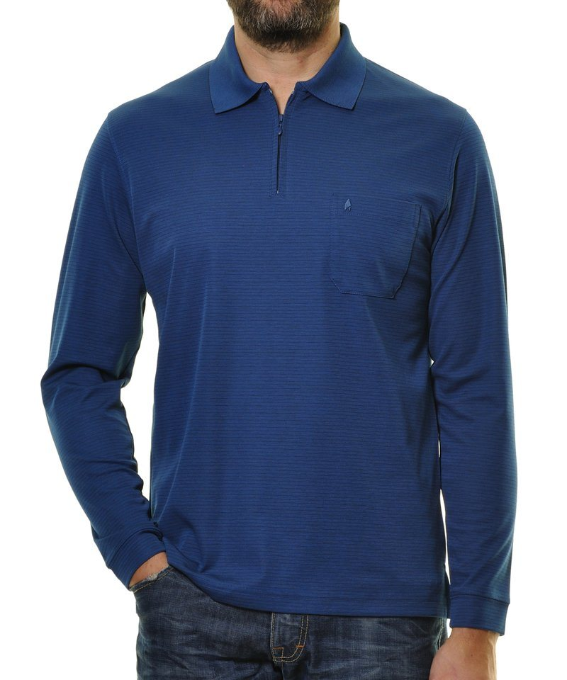 Ragman Poloshirt in blau