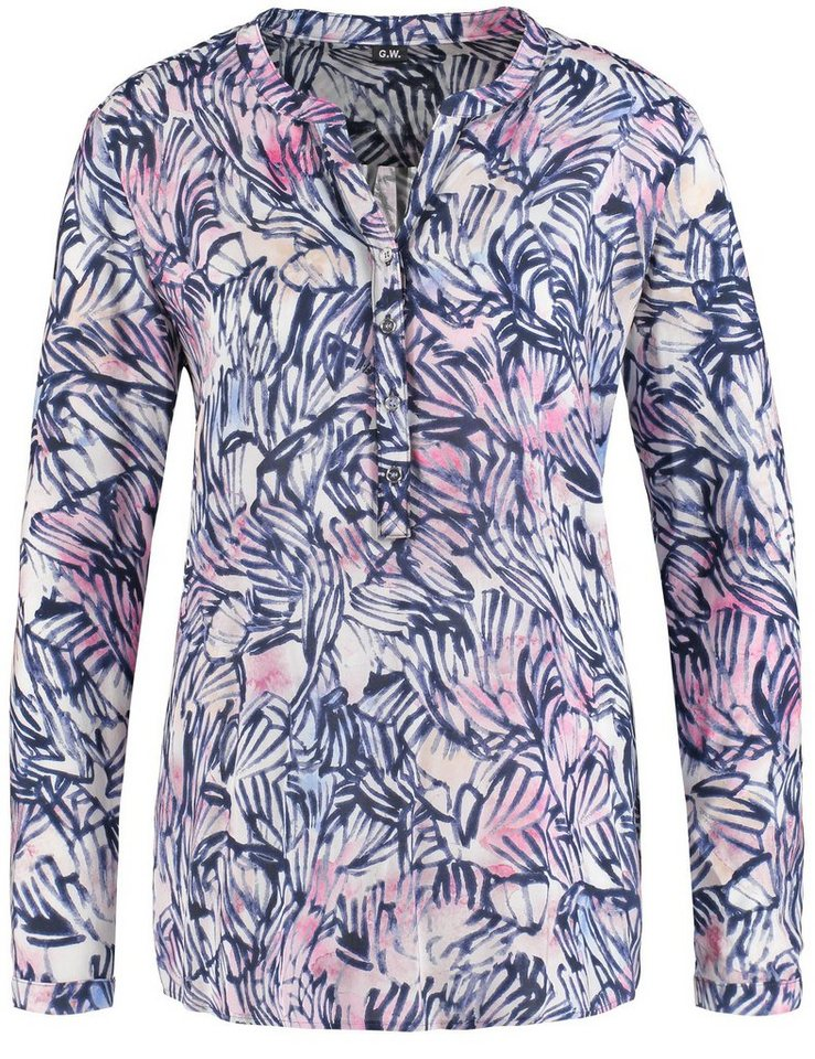Gerry Weber Bluse Langarm »Langarmbluse mit modischem Print« in Offwhite-Dove-Sorbet