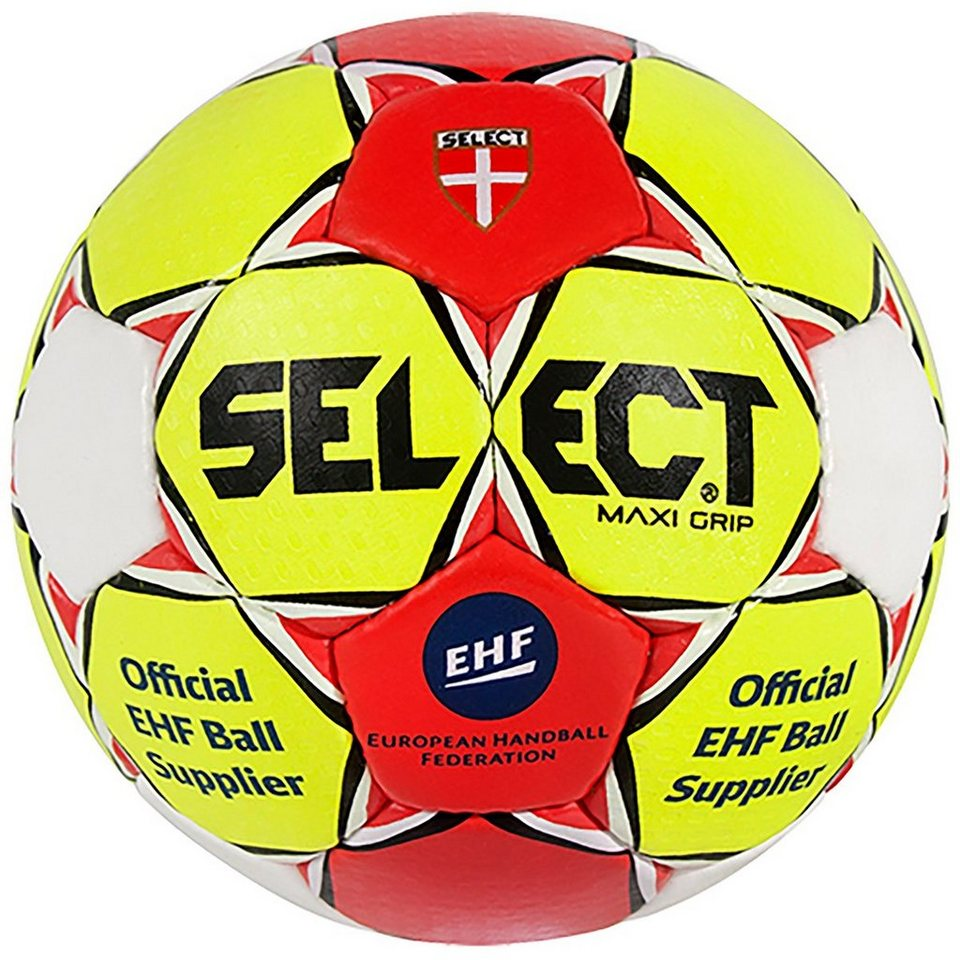 Select Maxi Grip Handball in gelb / rot / weiß