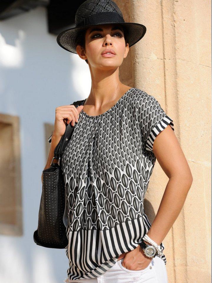 Alba Moda Blusenshirt in schwarz/weiß